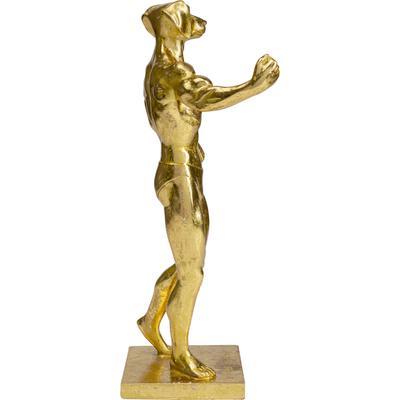 Objeto decorativo Muscle Dog oro