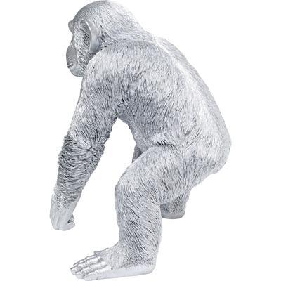 Figura deco Playing Ape plata 50