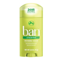 Ban Invisible Solid Antiperspirant Deodorant Unscented 73 Gr