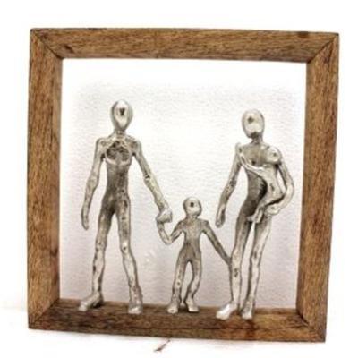 Objeto decorativo Frame Happy Family
