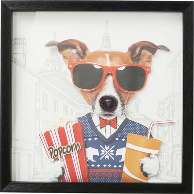 Cuadro Art Cinema Dog 50x50cm
