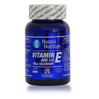 Natural Nutrition Vitamina E 400 IU Plus Selenium x 60 Capsulas