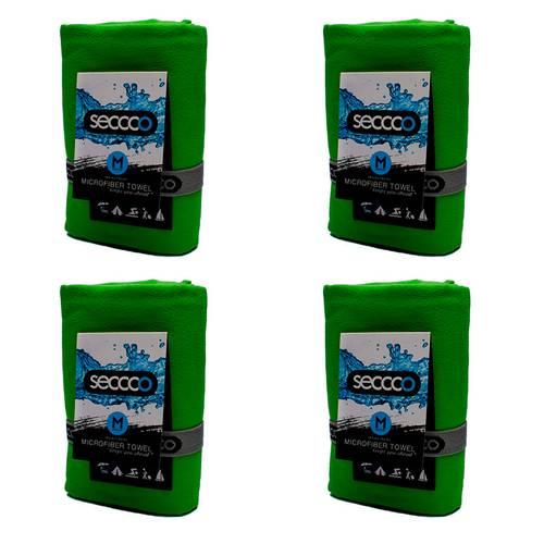 SetX4 Toallas de Microfibra Verde M