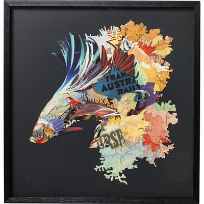 Cuadro Art Betta Fish Colore Left 65x65cm