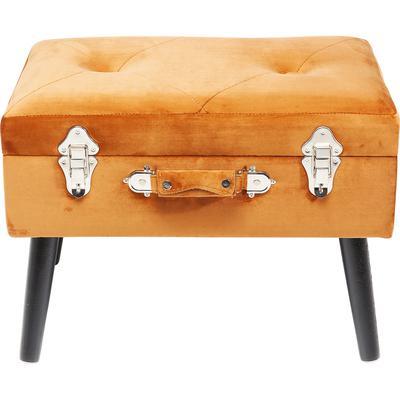 Escabel Suitcase naranja