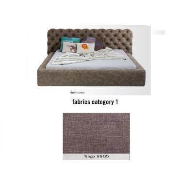 Cama Slumber, tela 1 - Tiago  9905,  (82x228x239cms), 180x200cm (no incluye colchón)