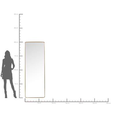 Espejo Curve Rectangular latón 200x70
