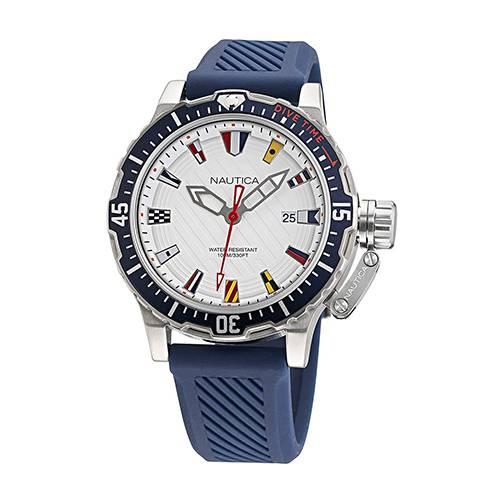 Reloj Glenrock Lagoon Blanco - Plateado