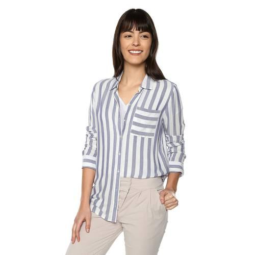 Camisa Madeline Color Siete Para Mujer - Azul