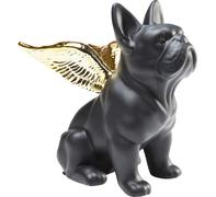 Figura decorativa Sitting Angel Dog dorado-negro