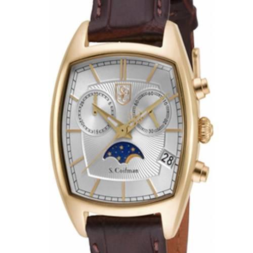 Reloj análogo plateado-marrón 0329
