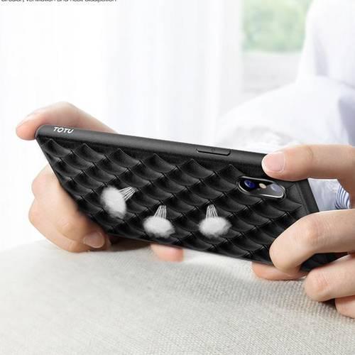 Estuche totu rombus series iphone xs max negro -038-b