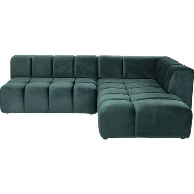 Sofá esq Belami Velvet verde oscuro dcha 265cm