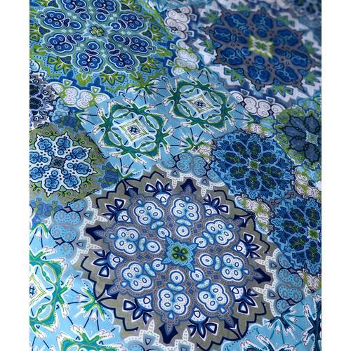 Set Duvet Doble Faz Mosaico Azul