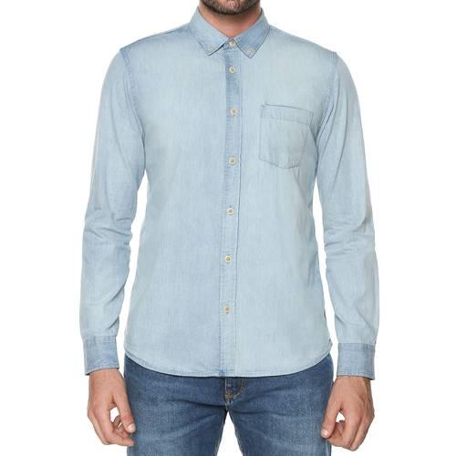 Camisa Manga Larga Wooster Color Siete Para Hombre  - Azul