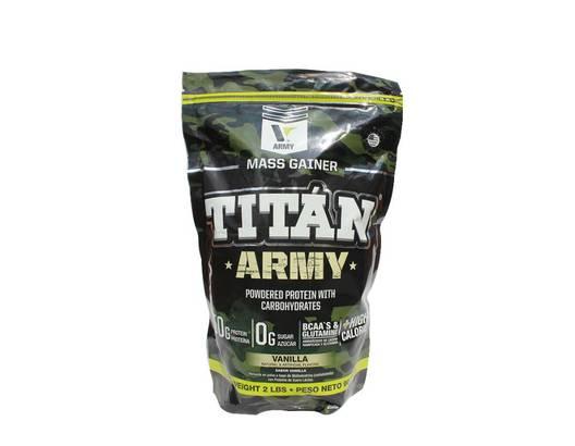 Proteína TITÁN ARMY X 2 libras vainilla