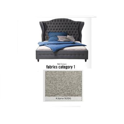 Cama City Spirit, tela 1 - Kitana 9206, (120x156x260cms), 200x200cm (no incluye colchón)