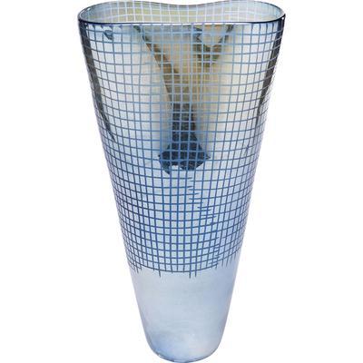 Vasija Grid Luster azul 48cm