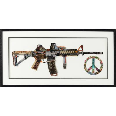 Cuadro Art Peace No War 50x100cm