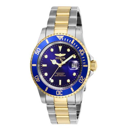 Reloj quartz azul-acero dorado 6972