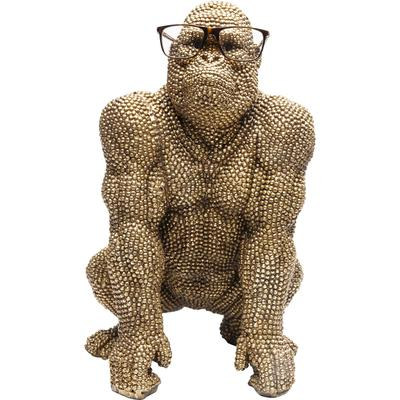Figura decorativa Gorilla oro 46cm