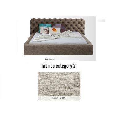 Cama Slumber,  tela 2 - Istinia 04,   (87x208x239cms), 160x200cm (no incluye colchón)