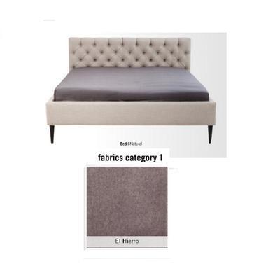 Cama Nova, tela 1 - El Hierro,   (85x180x215cms), 160x200cm (no incluye colchón)