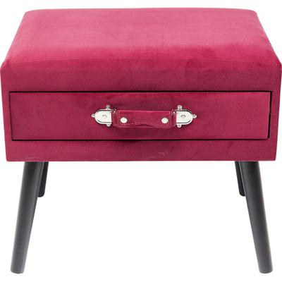 Escabel Drawer rojo