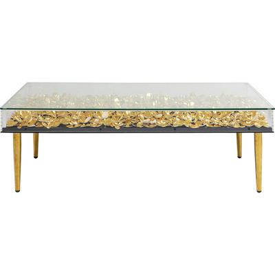 Mesa centro Gold Flowers 120x60cm