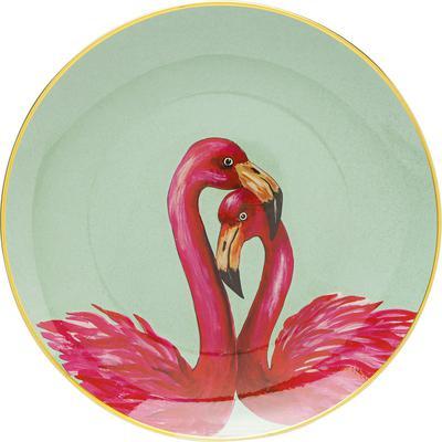Plato decorativo Flamingo Couple Ø27cm