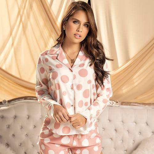Pijama Pantalón Corto Rosado 7840