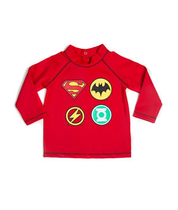 Camiseta De Baño Bebito Justice League(