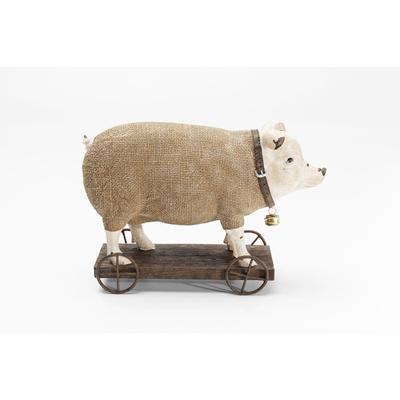 Figura decorativa Pig On Wheels