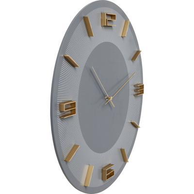 Reloj pared Leonardo gris/oro