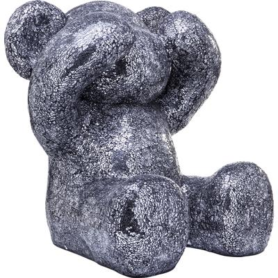Figura decorativa Crystal Bear plata