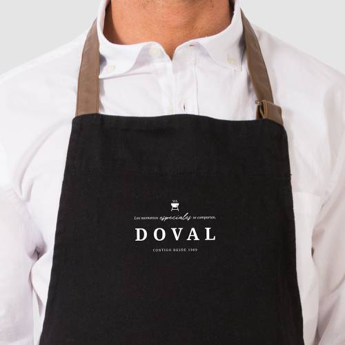 Delantal Color Siete Doval - Negro