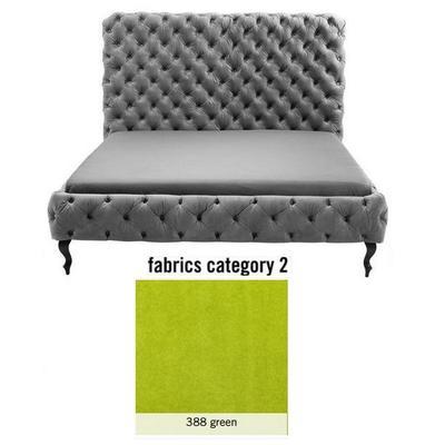 Cama (Alta) Desire, tela 2 - 388 green,  (135x197x228cms), 180x200cm (no incluye colchón)