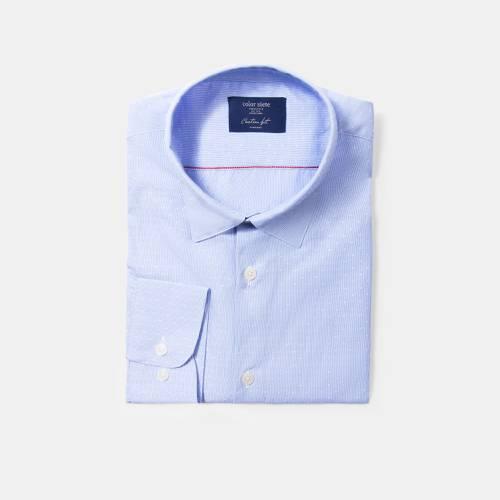 Camisa Color Siete para Hombre Dobby#2 -  Azul
