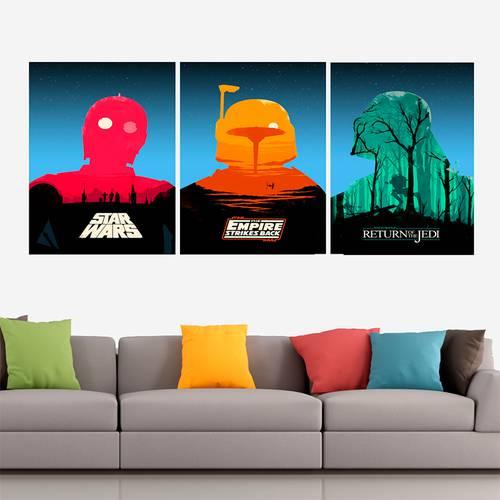 Cuadro Trilogía Star Wars