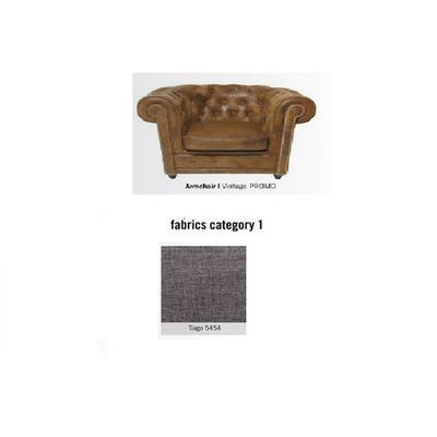 Poltrona Cambridge, tela 1 - Tiago   5454 (115x76x92cms)