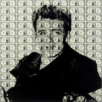 Cuadro cristal Man of Dollar 100x100