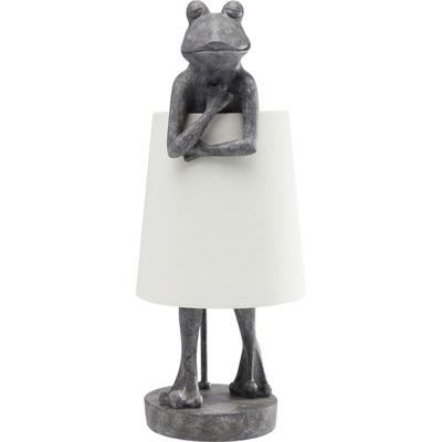 Lámpara mesa Animal Frog gris blanco