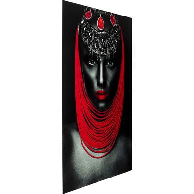 Cuadro cristal Lady 1 Red 80x120
