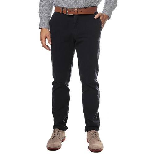 Pantalon Color Siete Para Hombre  - Azul