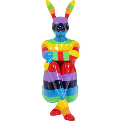 Figura deco Sitting Rabbit Rainbow 203cm