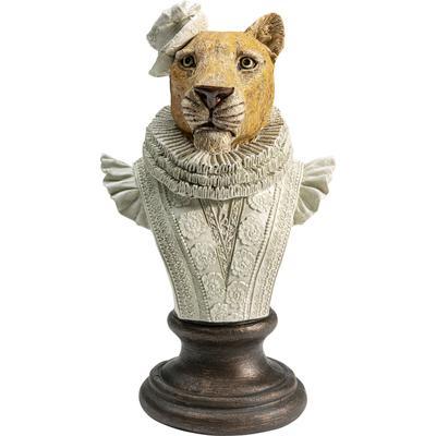 Objeto deco Sir Leopard blanco