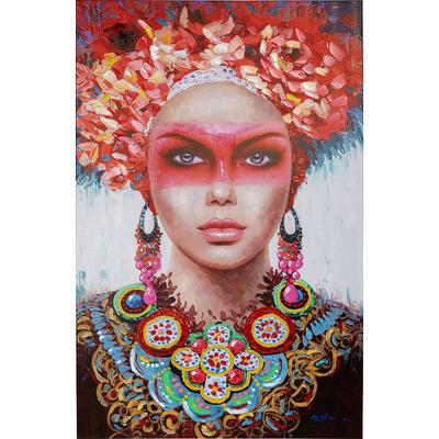 Cuadro Red Eye Lady 90x140cm
