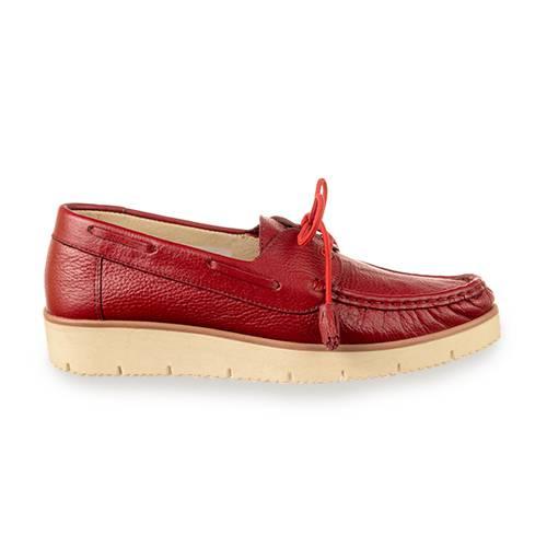 Zapato Casual En Cuero Rojo