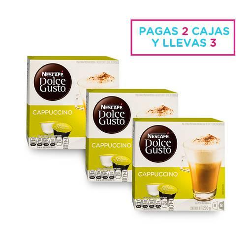 Set X 3 Cappuccino Caja X 16 Cápsulas 2726 - Dolce Gusto