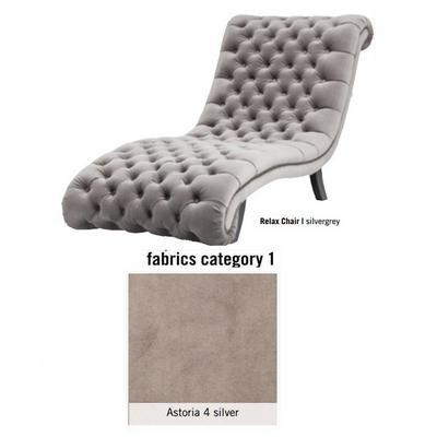 Silla de descanso My Desire Relax, tela 2 - Astoria 4 silver (81x96x173cms)